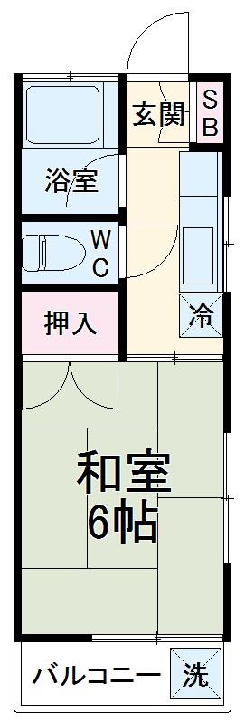 ハイツ山田 103号室の間取り