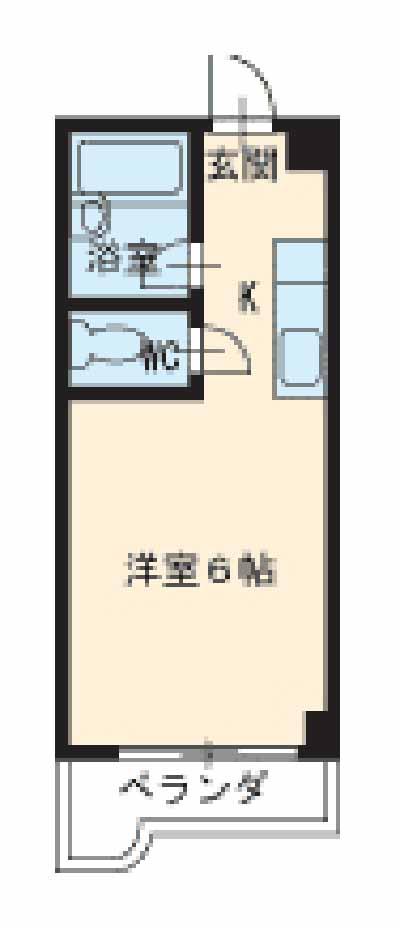 ドール津賀田 207号室の間取り