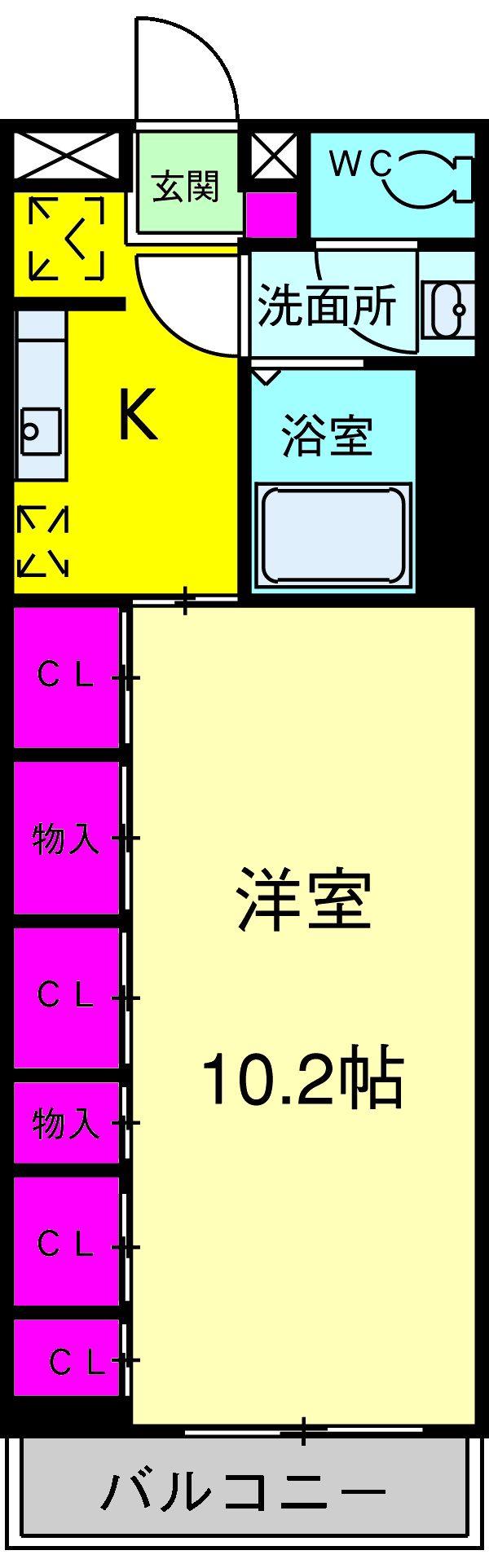 リブリ・三村新町・201号室の間取り