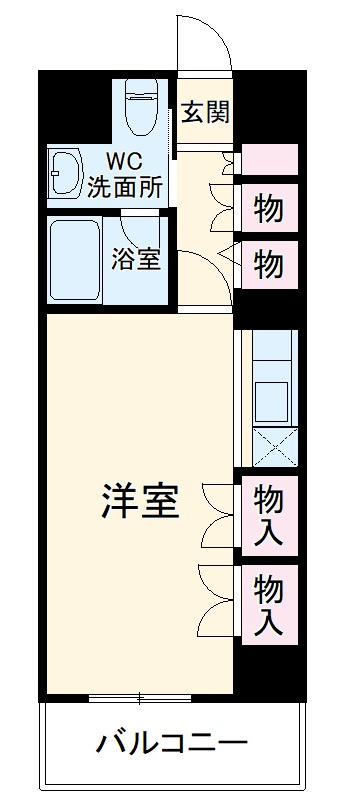 S-FORT桜山・211号室の間取り