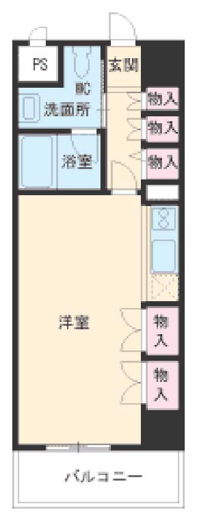 S-FORT桜山・511号室の間取り