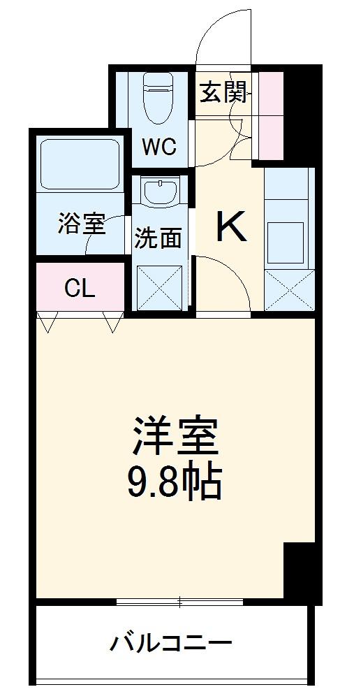 S-FORT桜山・706号室の間取り