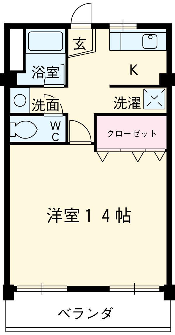 ヤカタハイツ 302号室の間取り