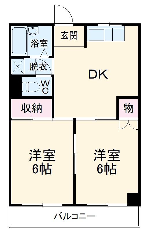 ニュー幸田プラザ・4-A号室の間取り