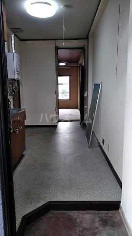 有貴荘 202号室の玄関