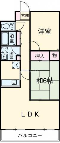 シャルマン平成・303号室の間取り