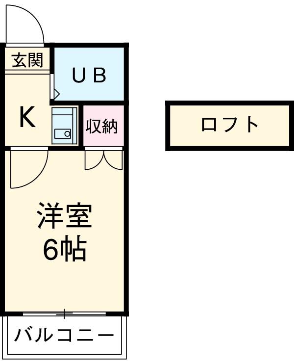 エスポワール左京山・203号室の間取り