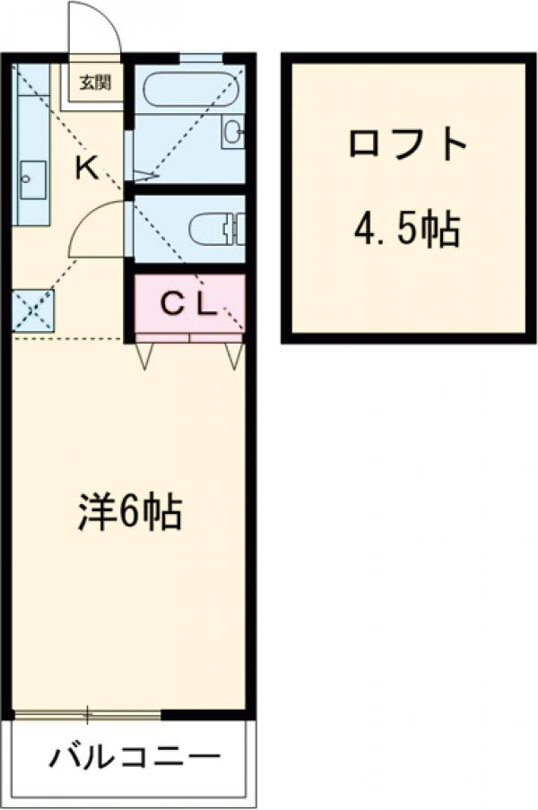 ウィスタリア桜ヶ丘・203号室の間取り