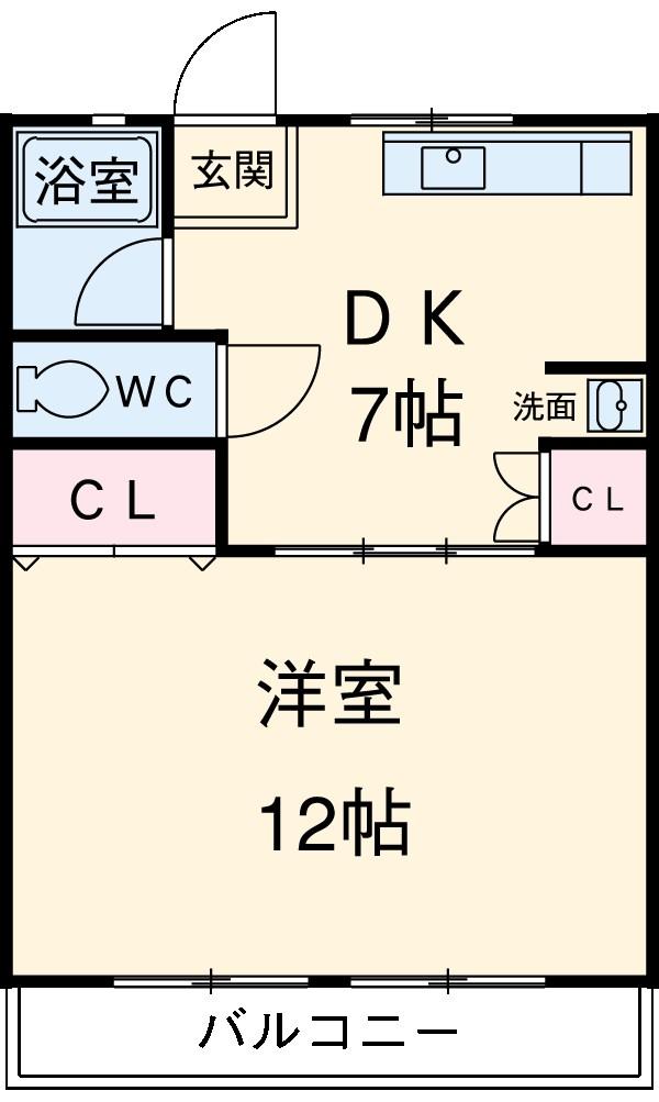 青山パークマンション・406号室の間取り