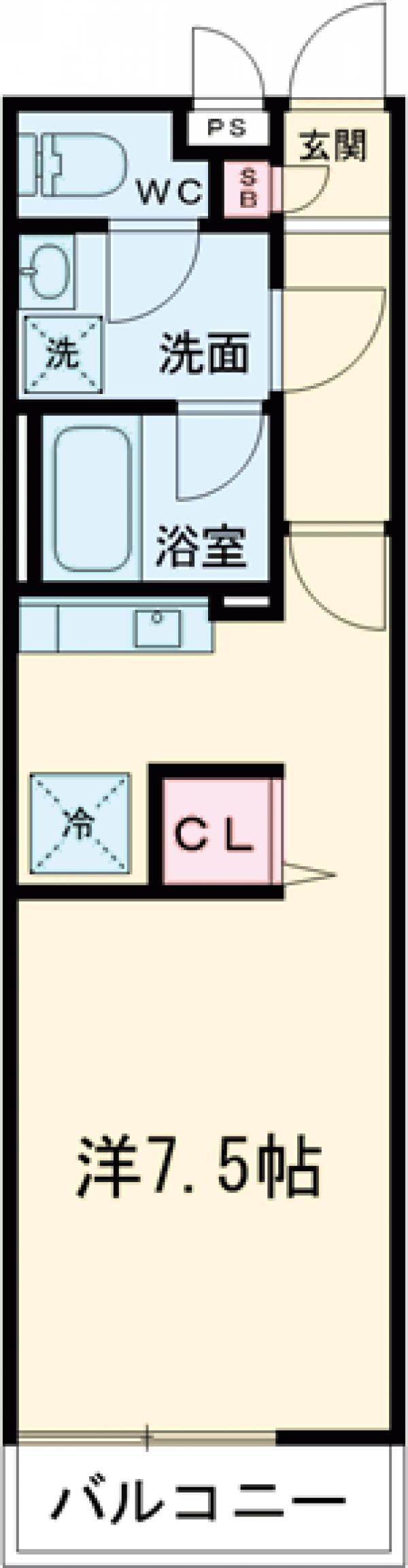 リブリ・オルタンシアⅢ 101号室の間取り