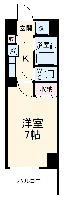 S-FORT本八幡Mairie・206号室の間取り