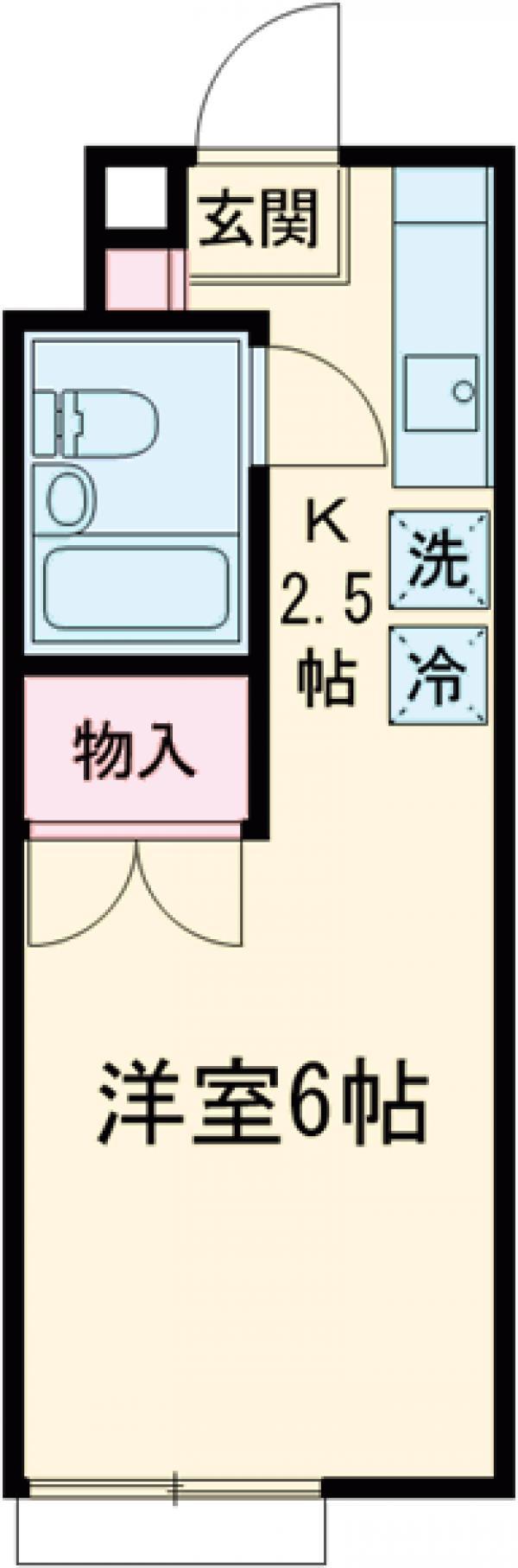 立川栄町フラットA棟・103号室の間取り