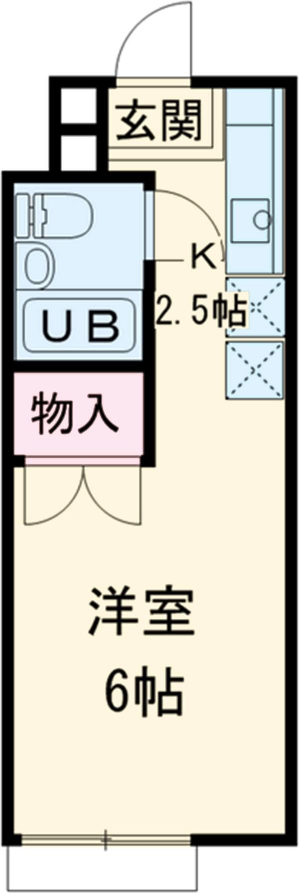 立川栄町フラットA棟・203号室の間取り