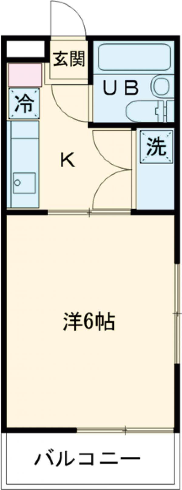 サンハイムEⅠ・201号室の間取り