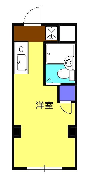 コーポヤジマ7号棟・732号室の間取り